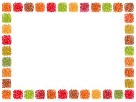 Handwritten square dot frame Frame decoration Simple
