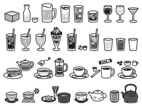 Drink menu set B & W