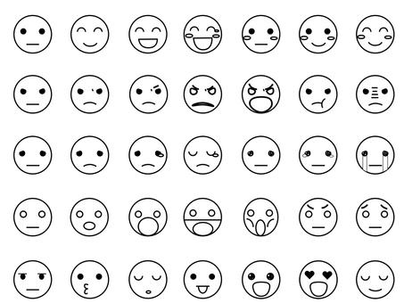 感情豊かな表情アイコン