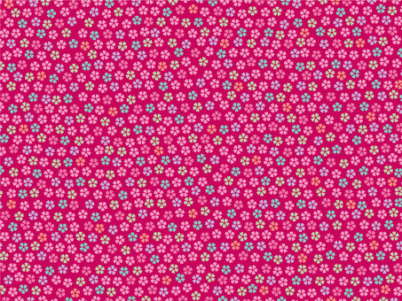 Colorful cherry tree pattern background 2