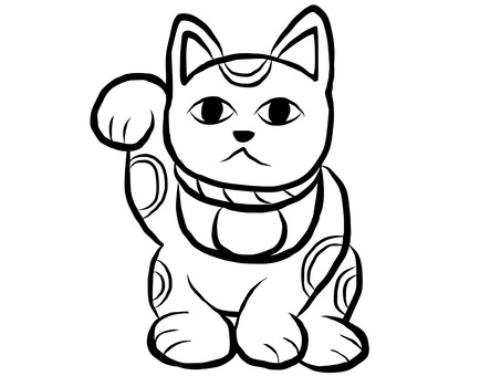 Lucky cat black and white