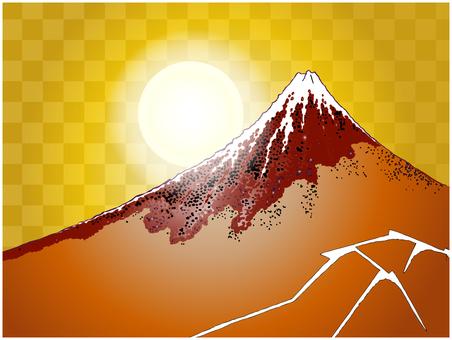 Ukiyoe Red Fuji