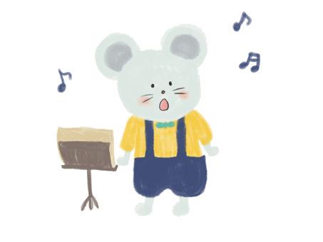 歌うねずみちゃん