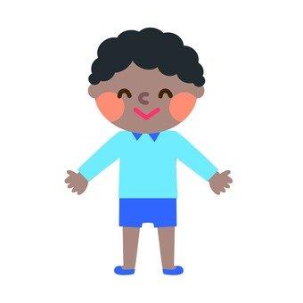 A boy with a perm
