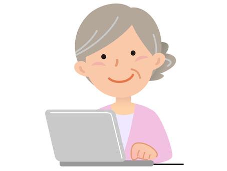 5911. Senior lady computer