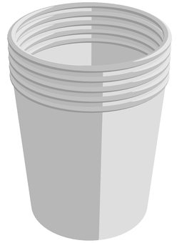 Overlapped paper cup