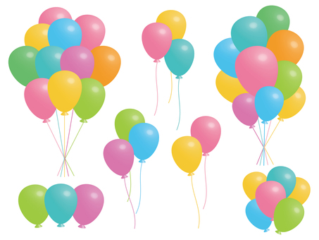 Bunch set of balloons