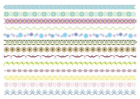 27-line, decorative line set 6 color B