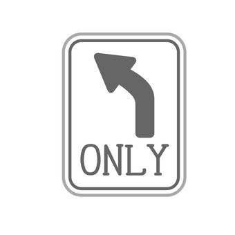 Sign (left turn only)