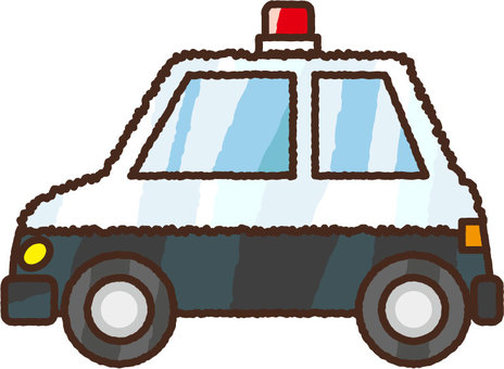 Hand-drawn police car