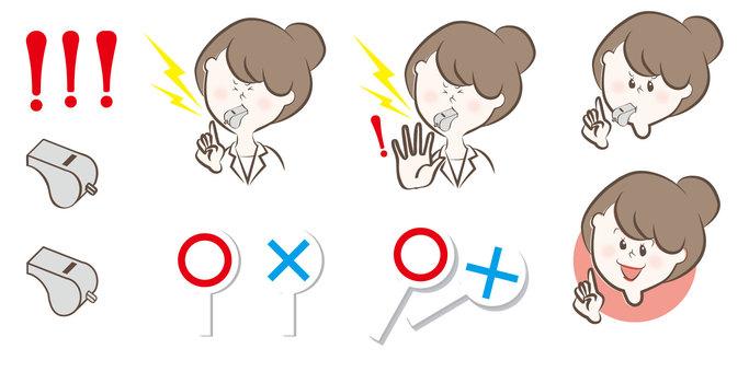 Warning illustrations