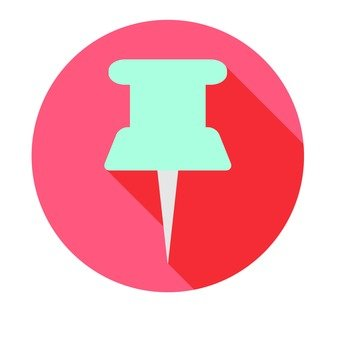 Flat icon - pin
