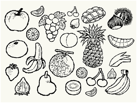 Hand-painted fruit set