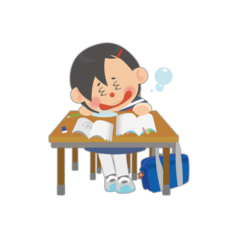 Female student (asleep)