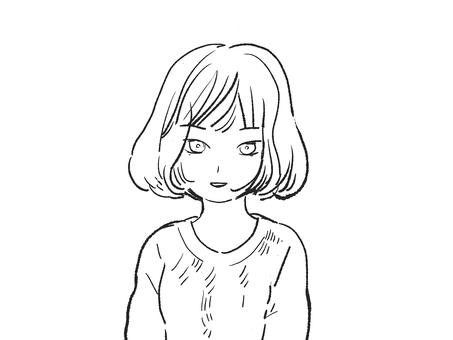 Line drawing woman (standard face)