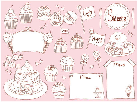 Hand-painted sweets set 02