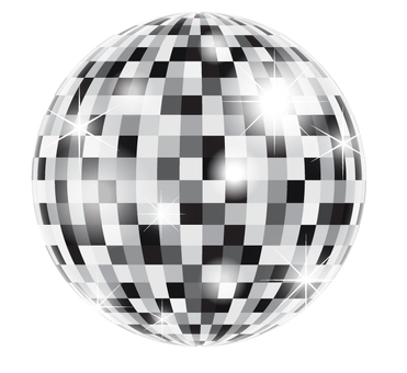 Mirror ball _ Gray _ with light