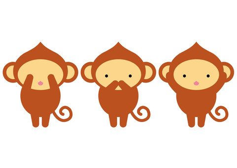 Seeing the monkey saying monkey monkey