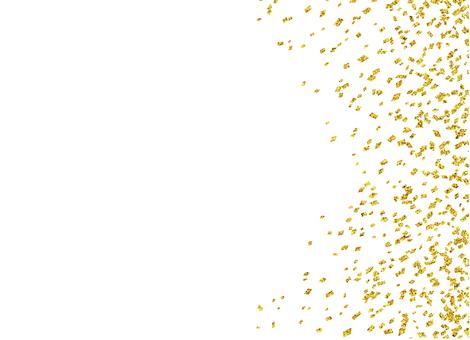 Golden confetti (horizontal)