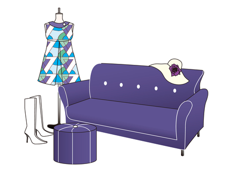 Sofa and clothes