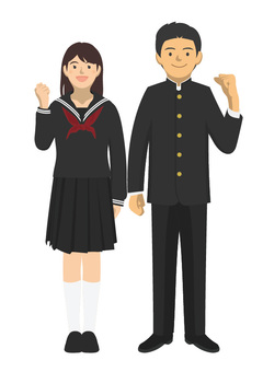 Student_uniform of men and women -2 - 4 _ whole body