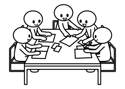 【Subject】 Stick figures - group work (5 people)