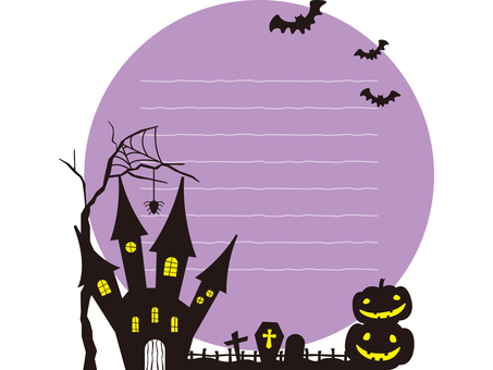 Halloween image 001 with purple ruled