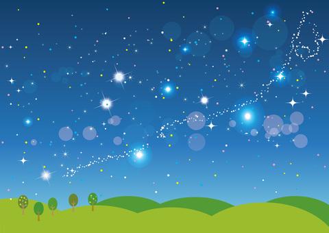 별이 빛나는 하늘 배경 02