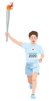 Torch runner illustration