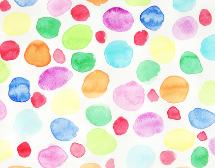 Bright shades of watercolor polka dots