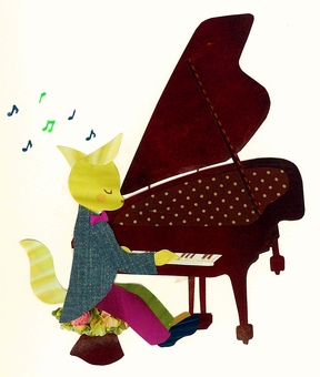 Animals and Musical Instruments Series - Foxes and Pianos ~
