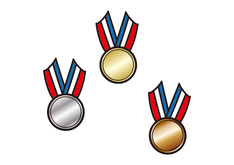Gold and silver bronze medals