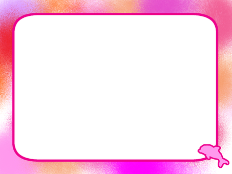 Dolphin frame pink