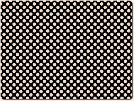 Dot pattern series black × white