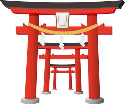 A row of torii