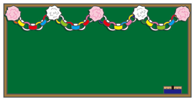 Blackboard and decorations
