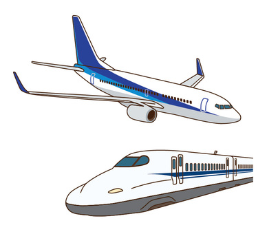 Shinkansen and Airplane Set 2