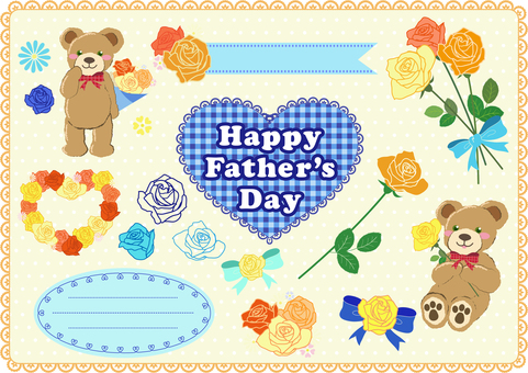 Fathers day illustration set (bear)