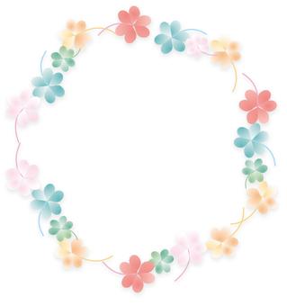 꽃 장식 괘 프레임