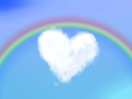 Heart cloud (rainbow)