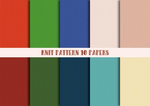 Knit pattern set (plain)