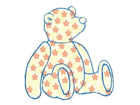 Bear and Japanese Pattern Sakura