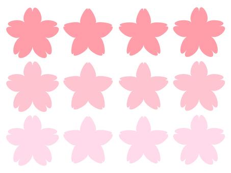 Cherry petals set