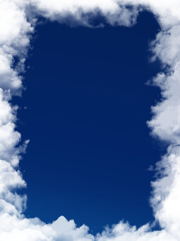 Dark blue sky frame