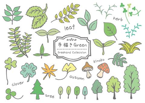 Hand-painted trees & leaves _B