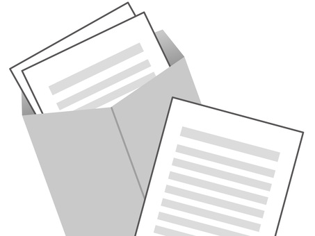 60820. 서류 봉투 회색 3