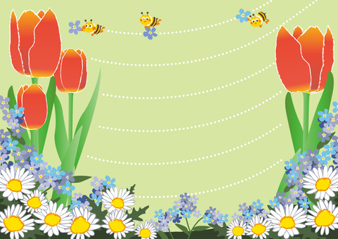 April _ Apr _ Flower fields and honey bees 2