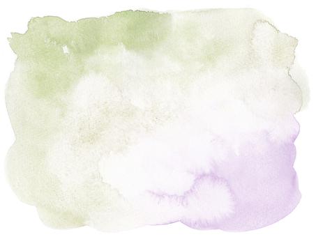 水彩画の背景-モスグリーン紫