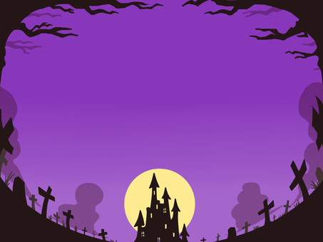 ハロウィンのフレーム