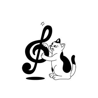 음자리표 고양이